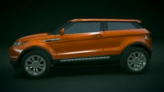 Range rover Evoque restyled Stock Footage