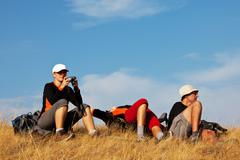 Stock Photo of people in hike