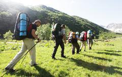 backpackers - stock photo