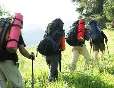 Stock Photo of backpackers