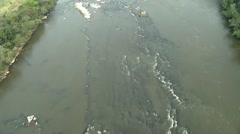 Aerial Shot Of A River Stock Footage