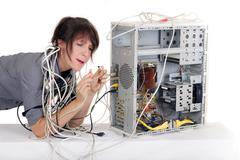 plug confusion - stock photo