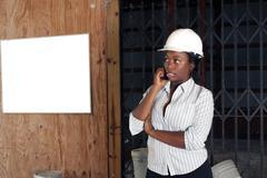 Lovely female construction admin (1) Stock Photos