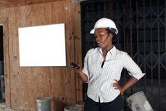 Lovely female construction admin (2) Stock Photos