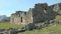 Greenland Hvalsey Nordic church ruin 5 Stock Footage