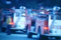 Vintage Super 8 Emergency Response Stock Footage