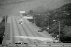 Hollywood Freeway Closure 1988 Helicopters Stock Footage