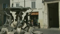 Turtle fountain in Rome (two) timelapse & slow motion mix Stock Footage