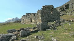 Greenland Hvalsey Nordic church ruin 6a Stock Footage