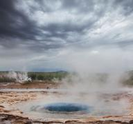 geyser in iceland - stock photo