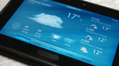 Weather News On Tablet - Full HD - stock footage
