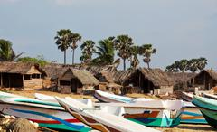 village on sri lanka - stock photo