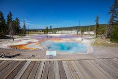 Yellowstone park hot spring Stock Photos