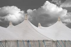 circus tents - stock photo