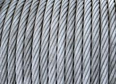 Steel cable on a coil Stock Photos