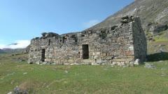 Greenland Hvalsey Nordic church ruin 7 Stock Footage