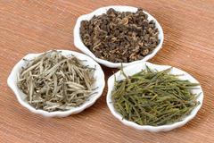 chinese teas - stock photo