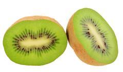 Two cross section of kiwi Stock Photos