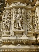 Sculpture in the Jain Temple, Udiapur India - stock photo
