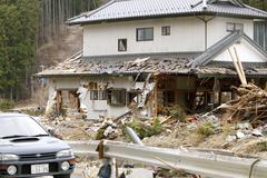 Japan Tsunami Wreckage Stock Photos
