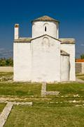 The church of the Holy cross in Nin Stock Photos