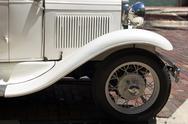 Antique white auto Stock Photos