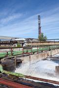 industrial water treatment plant - stock photo