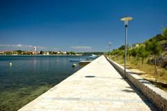 Waterfront in Nin - stock photo