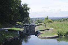 Caen hill locks, devizes Stock Photos