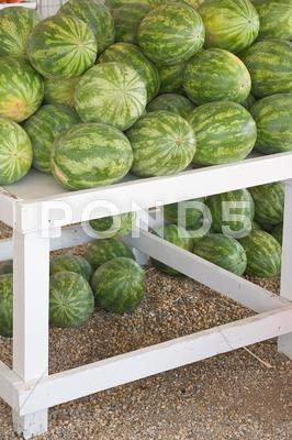 Stock photo of fresh watermelon