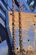 Heavy  machinery with chain Stock Photos