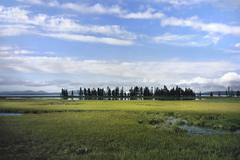 Stock Photo of yellowstone lake at steamboat point