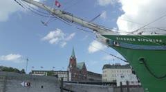 Hamburg port. Stock Footage