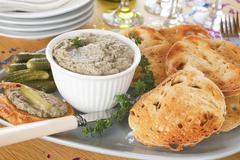Stock Photo of pate with toast