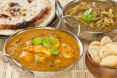 butter chicken indian curry - stock photo
