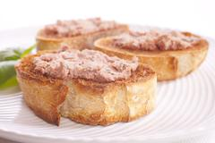 Pate on toast Stock Photos