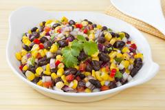 Black bean and corn salad Stock Photos