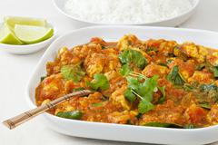 chicken sag curry - stock photo
