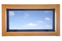 Aluminium double glazed small window Stock Photos