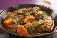Stew beef tagine with sweet potato Stock Photos