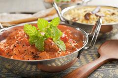 Indian curry chicken tikka masala Stock Photos