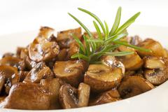 marinated mushrooms - stock photo