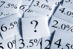 variable interest rate - stock photo