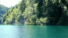 Plitvice Lakes and Waterfall - stock footage