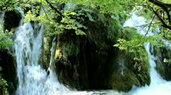 Waterfall of Plitvice Lakes Stock Footage