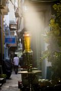Saigon in Vietnam. Vietnamese culture,people,city life,sanctuary, funeral. Stock Photos