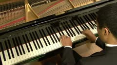 PLAYING GRAND PIANO #1 - HD Stock Footage