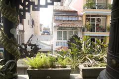 Saigon in Vietnam. Vietnamese culture,buddhist temple. Stock Photos