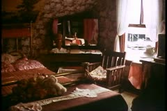 Ketchikan Alaska, Dolly's House of prostitution, interior, bedroom Stock Footage