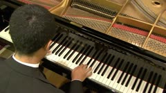 PLAYING GRAND PIANO #2 - HD - stock footage